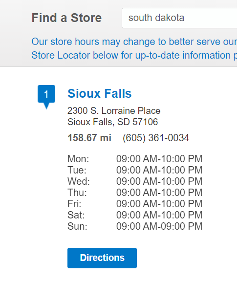 ross store hours